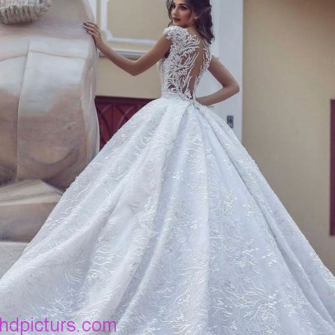 صوره صور فساتين عروس , موديلات رقيقه لفساتين زفاف بالصور