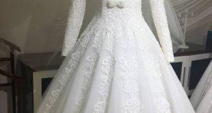 بالصور فساتين اعراس للمحجبات , فساتين زفاف للبنات المحجبات 3915 12 310x165
