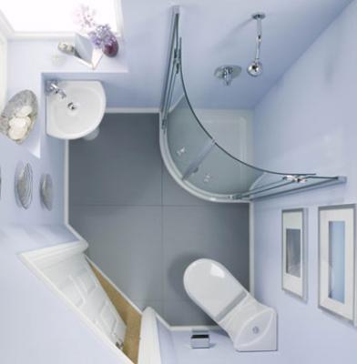 بالصور حمامات صغيرة , صور ديكورات حمامات 5007 7