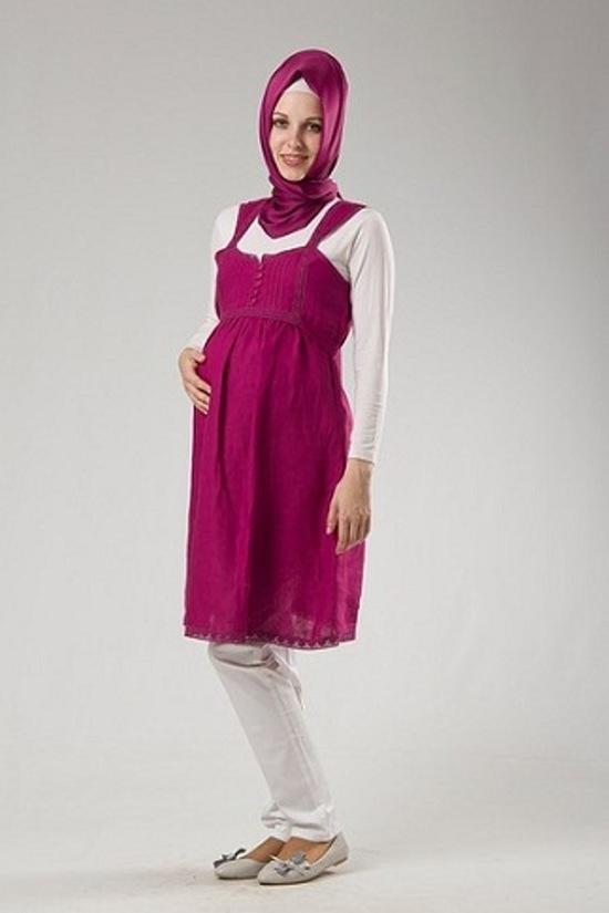 بالصور ملابس للحوامل المحجبات , اطلالات حوامل محجبات 5184 2