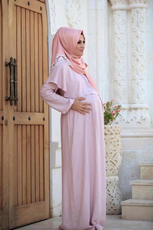 بالصور ملابس للحوامل المحجبات , اطلالات حوامل محجبات 5184 5