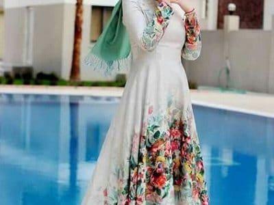 صورة فساتين محجبات 2019 , اجمل فستان للمحجبات2019