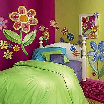 دهانات غرف اطفال الوان غرفة الاطفال دلع ورد