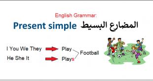صورة زمن المضارع البسيط , ازمنة اللغة الانجليزية
