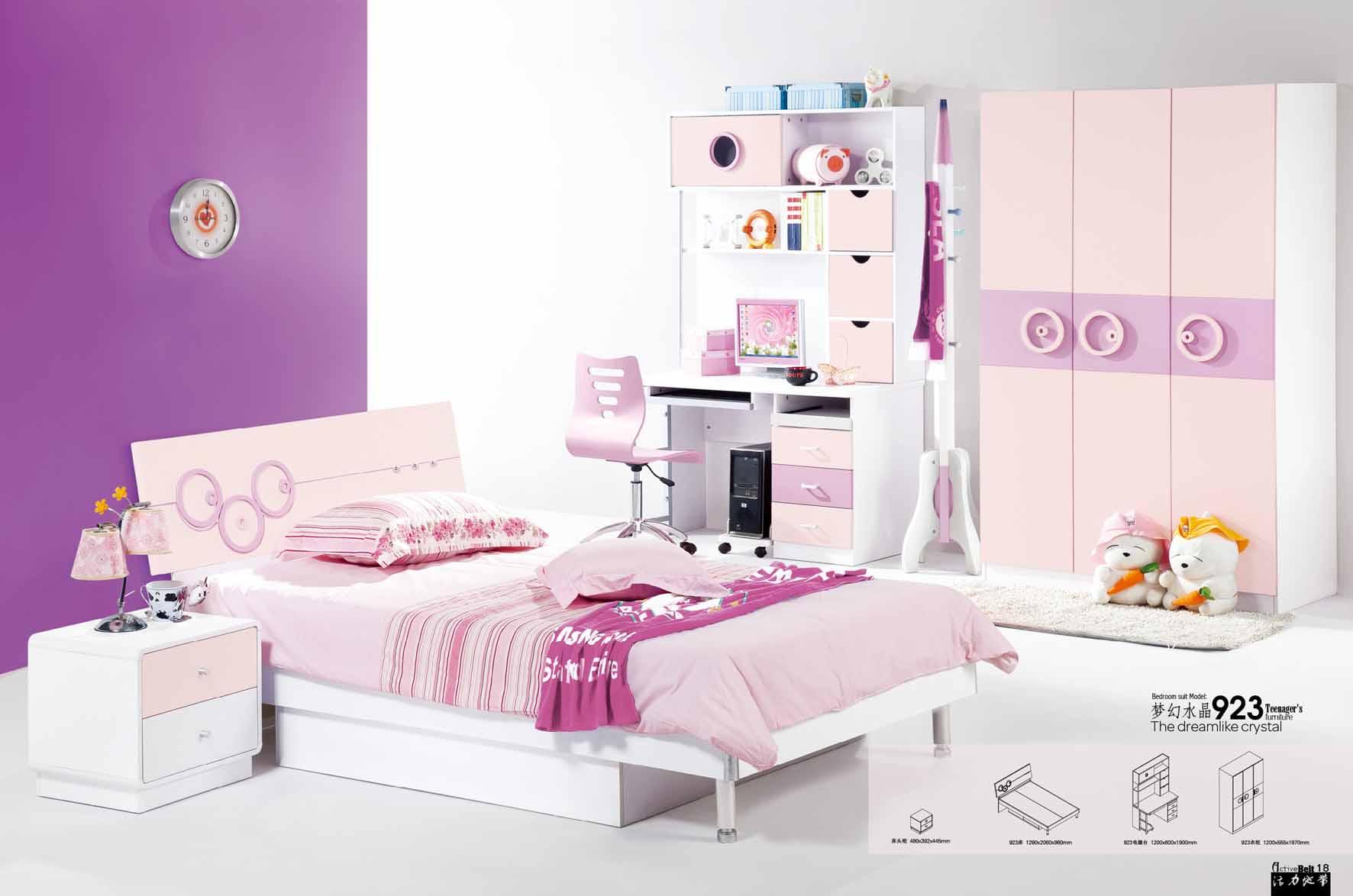 غرف نوم اطفال بنات , اجمل غرف البنات   دلع ورد