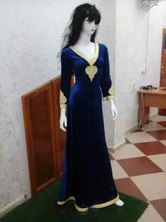 صورة قنادر قطيفة 2019 عراسي , اجمل تصميمات حديثة لفستان البيت القطيفة 2785 1