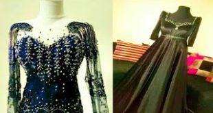 بالصور قنادر قطيفة 2019 عراسي , اجمل تصميمات حديثة لفستان البيت القطيفة 2785 11 310x165