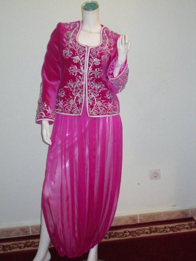 صورة قنادر قطيفة 2019 عراسي , اجمل تصميمات حديثة لفستان البيت القطيفة