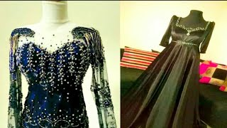 صورة قنادر قطيفة 2019 عراسي , اجمل تصميمات حديثة لفستان البيت القطيفة 2785