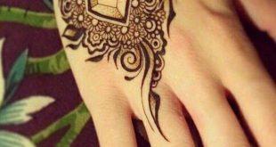 صورة نقش حناء خفيف , اجمل رسومات الحناء البسيطة