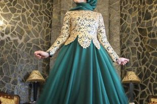 صورة فساتين سواريه بسيطه وشيك للمحجبات , اجمل الصيحات الحديثة للفستان السوارية