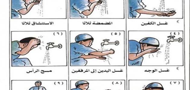 صورة كيفية الوضوء الصحيح , طريقه الوضوء الصحيحه