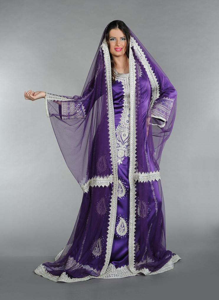 بالصور قفطان تونسي , ارتداء القفطان التونسي الجميل 4035 10