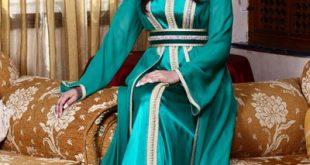 صور قفطان تونسي , ارتداء القفطان التونسي الجميل