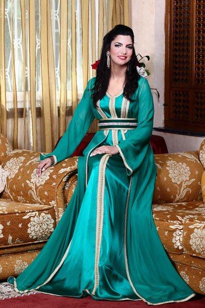 بالصور قفطان تونسي , ارتداء القفطان التونسي الجميل 4035