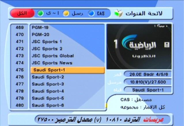 صور تردد قناة الرياضية , تردد قنوات المباريات والاخبار الرياضيه