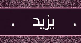 معنى اسم يزيد , تفسير معانى وصفات اسم يزيد