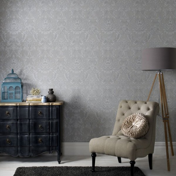 بالصور ورق جدران رمادي , احدث شكل لورق الجدران الرمادي 4504 6