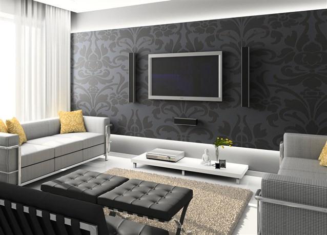 بالصور ورق جدران رمادي , احدث شكل لورق الجدران الرمادي 4504 8