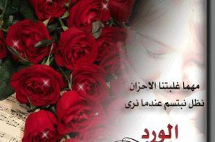 صورة كلمات عن الورد , اجمل الكلمات عن الورد