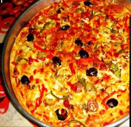 بالصور طريقة عمل البيتزا بالصور خطوة خطوة , اسهل طريقة تحضير البيتزا بالصور 5955 2