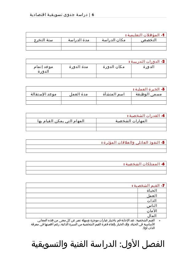 بالصور دراسة جدوى جاهزة , صور نماذج دراسة جدوى جاهزة باللغة العربية 6252 2