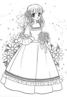 رسومات بنات سهله اجمل صورة رسم سهلة لبنت دلع ورد