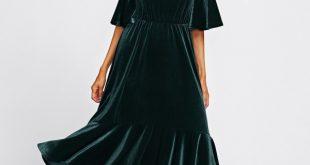صورة فستان مخمل , اجمل فستان مخمل مثير