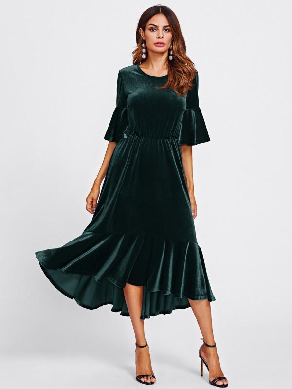صور فستان مخمل , اجمل فستان مخمل مثير
