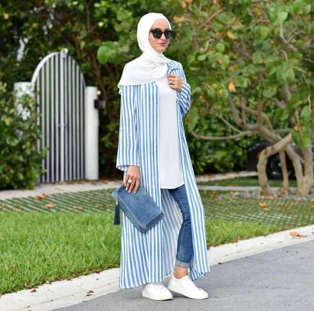 بالصور موضة صيف 2019 للمحجبات , كوليكشن رائع لجميع ملابس المحجبات على الموضه 775 10