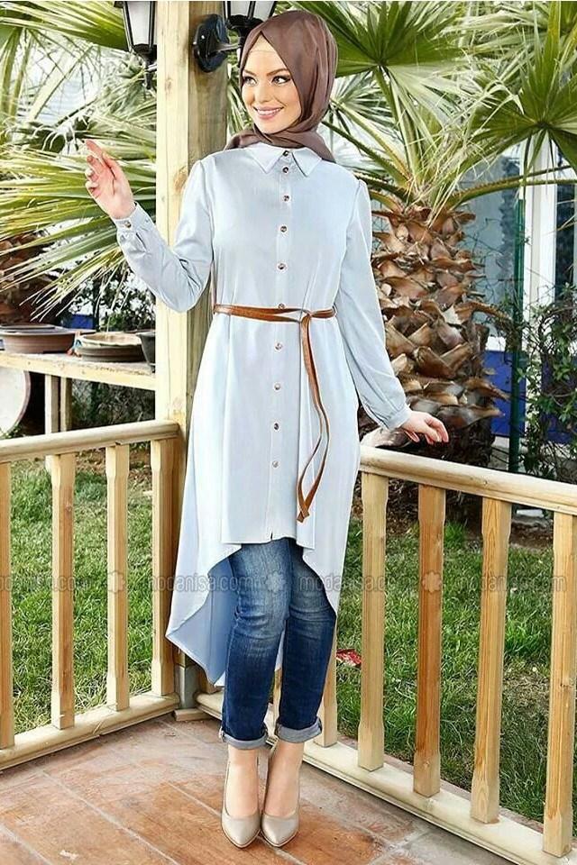 بالصور موضة صيف 2019 للمحجبات , كوليكشن رائع لجميع ملابس المحجبات على الموضه 775 11