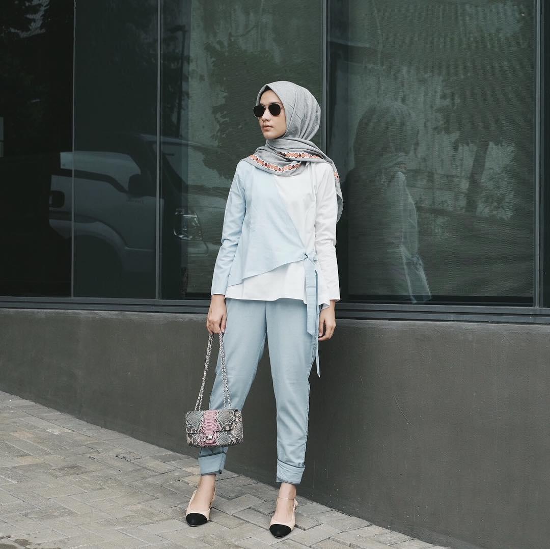 بالصور موضة صيف 2019 للمحجبات , كوليكشن رائع لجميع ملابس المحجبات على الموضه 775 3