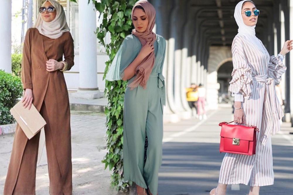 بالصور موضة صيف 2019 للمحجبات , كوليكشن رائع لجميع ملابس المحجبات على الموضه 775 5