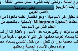 بالصور معنى اسم ميلا , ميلا معناه بالتفصيل 3686 4 310x205