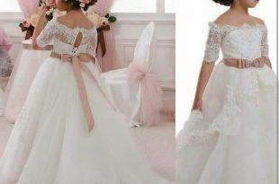 صور فساتين بنات صغار للاعراس , اجمل ملابس للبنات