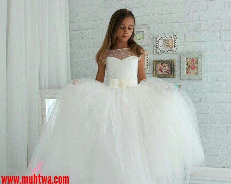 بالصور فساتين بنات صغار للاعراس , اجمل ملابس للبنات 12569 7
