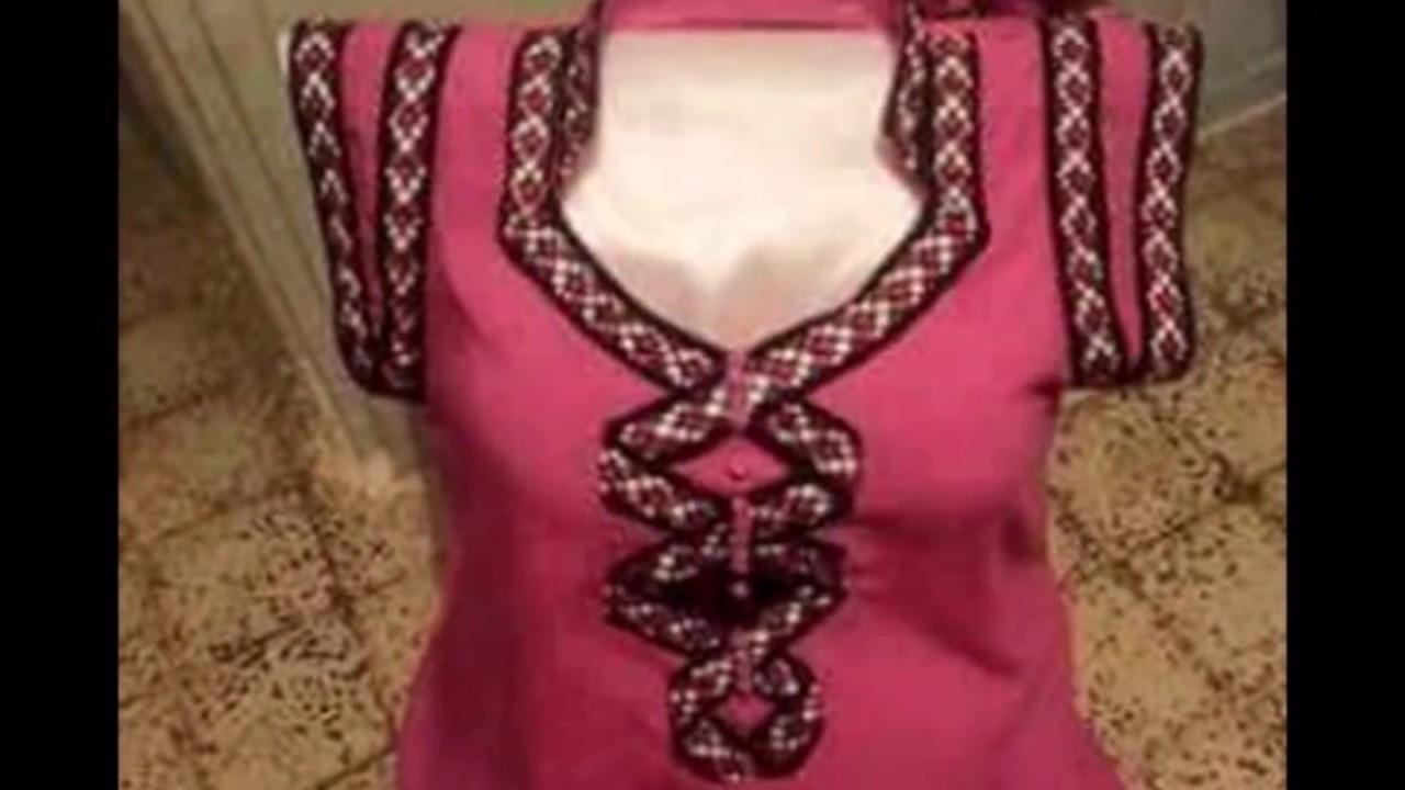 بالصور قنادر كتان عنابية فيس بوك , اشيك ملابس الوان 12726 9