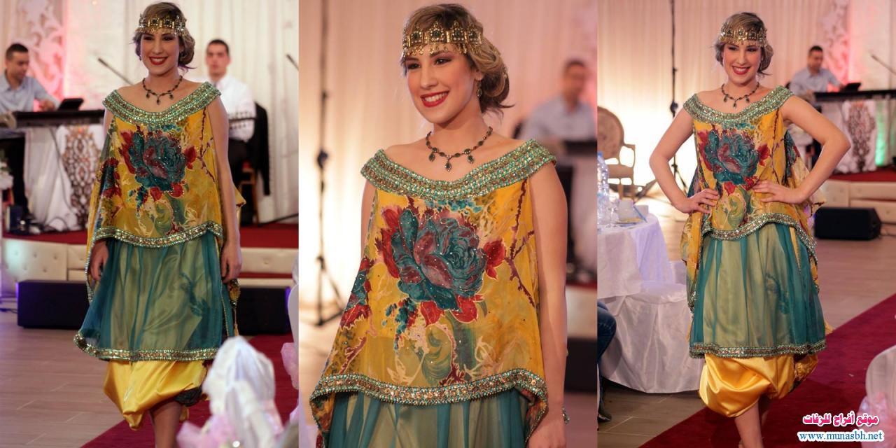 بالصور ازياء تقليدية جزائرية بلمسة عصرية , اجمل الازياء الجزائرية 12836 5