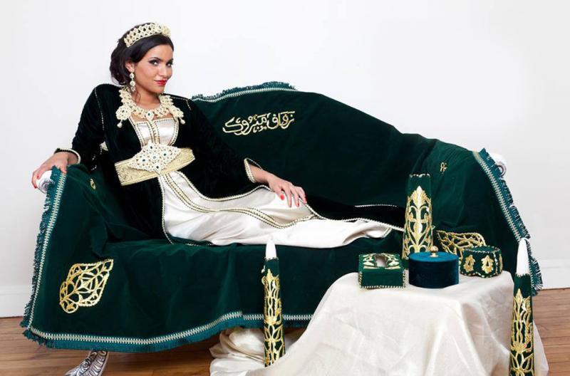 بالصور ازياء تقليدية جزائرية بلمسة عصرية , اجمل الازياء الجزائرية 12836 6