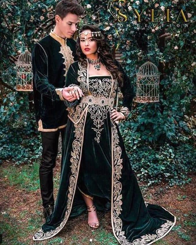 بالصور ازياء تقليدية جزائرية بلمسة عصرية , اجمل الازياء الجزائرية 12836 7