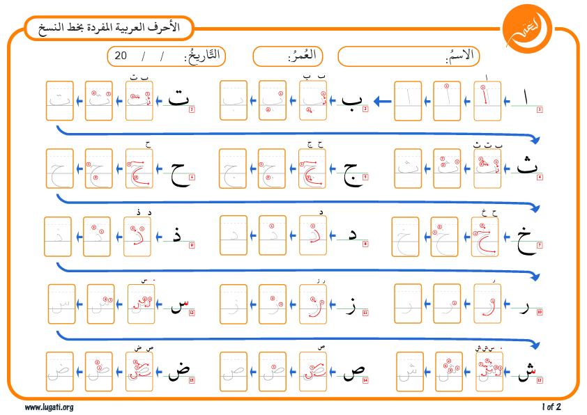 بالصور كتابة الحروف العربية , طريقة كتابة الحروف العربية 12846