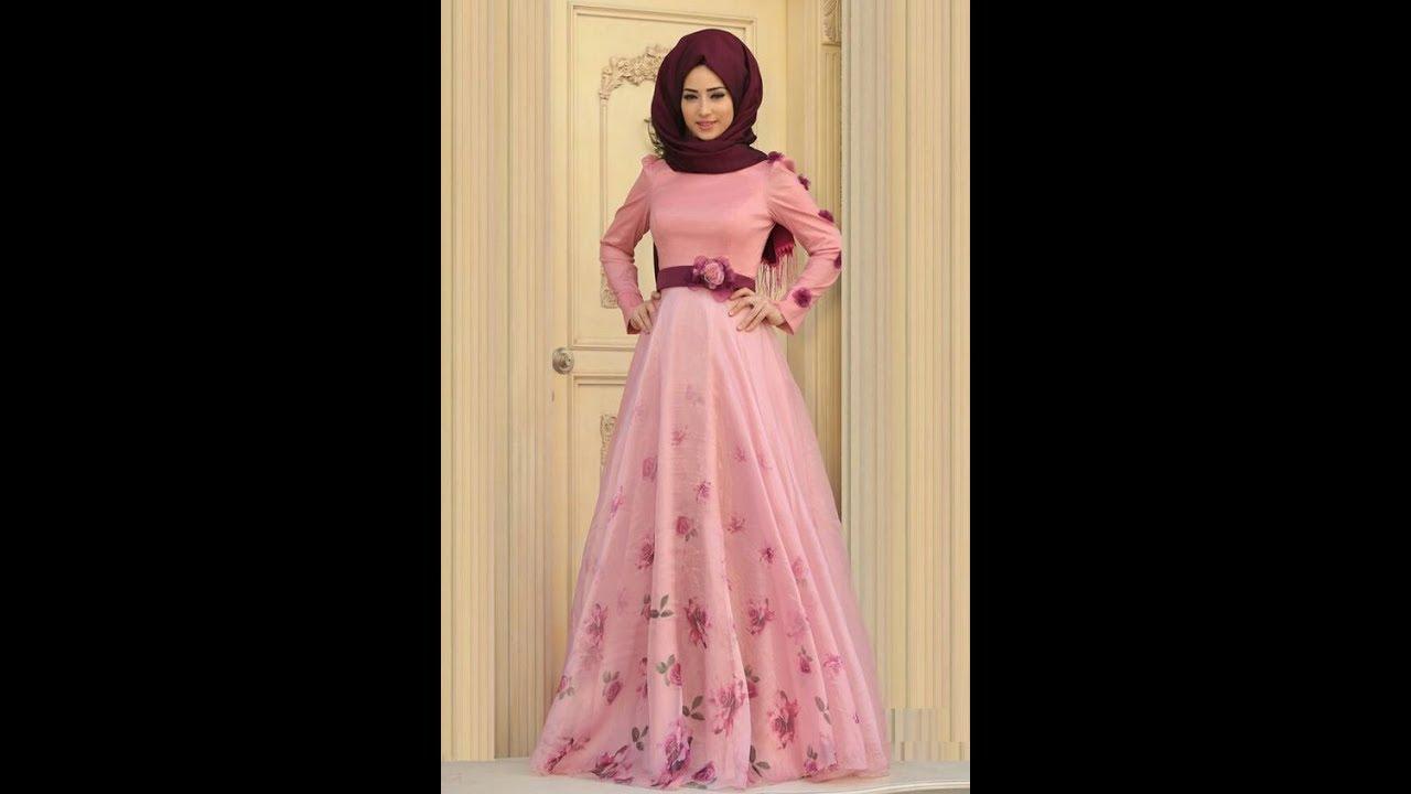 صورة احدث الفساتين السهرة للمحجبات , اجمل فساتين سهرة شيك