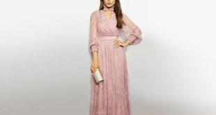 صور فساتين سهرة محتشمة , تصميمات لفساتين سوارية للمحجبات