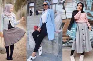 صور موضة 2019 للمحجبات , اجمل لفة حجاب في 2019