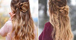 صورة تسريحات شعر طويل 2019 , كملى جمال شعرك بالتسريحه الرهيبه